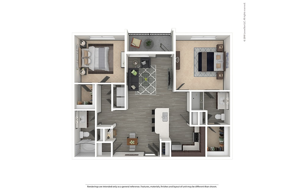 B1 Furnished Rendering | Phillips Creek Ranch