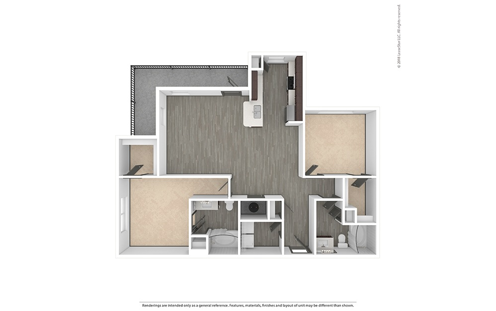 B2 Unfurnished Rendering   Phillips Creek Ranch