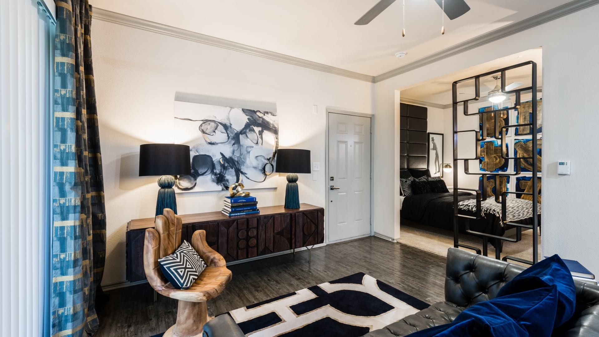 Spacious living room at The Aster by Cortland