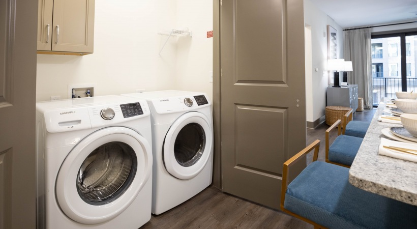 Apartment with washer and dryer set at Attiva Peachtree by Cortland