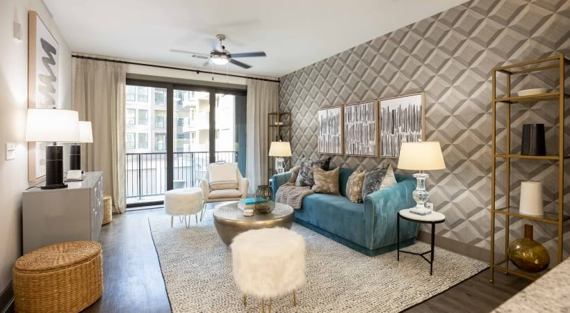55 senior apartment with spacious living area