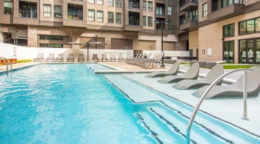 pool at our 55 and older apartments at attiva peachtree in Chamblee, GA