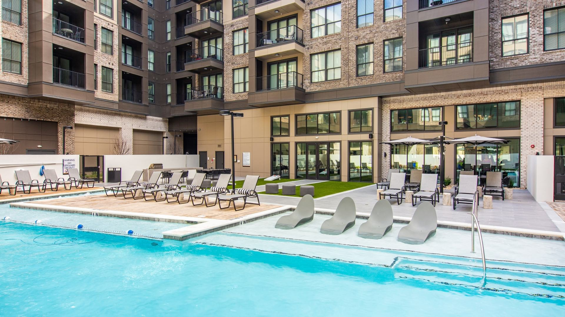 Pool at 55 and older apartments in Chamblee, GA