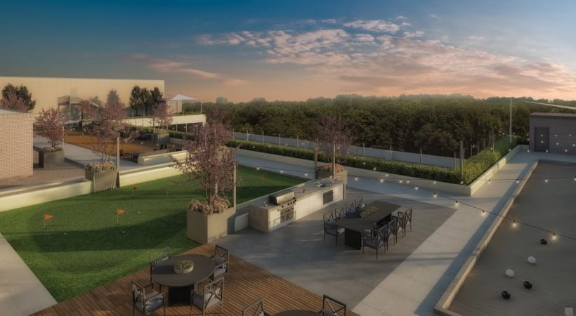 Rooftop terrace at 55 and up apartments