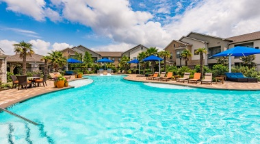Resort-Style Pool and Sundeck at Our Shadow Creek Ranch Apartments