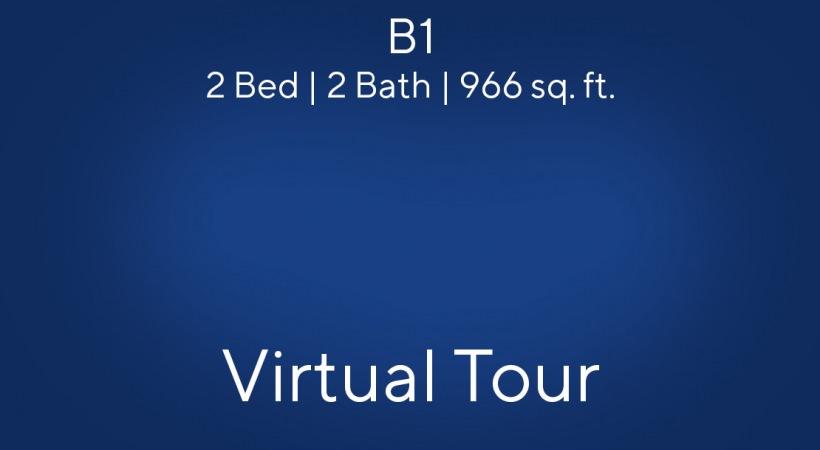 B1 2 Bed | 2 Bath | 966 sq. ft.