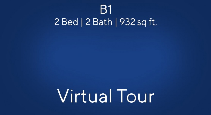 B1 Virtual Tour | 2 Bed/2 Bath