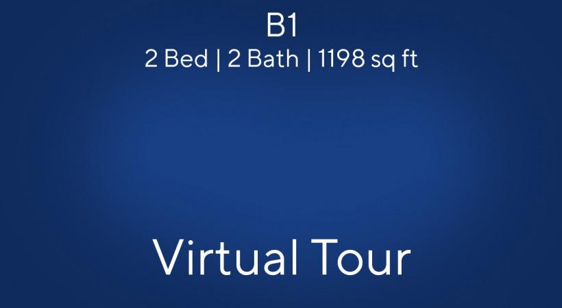B1 Floor Plan, 2bed/2bath, 1198 sq ft