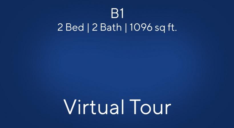 B1 Floor Plan, 2bed/2bath, 1096 sq ft