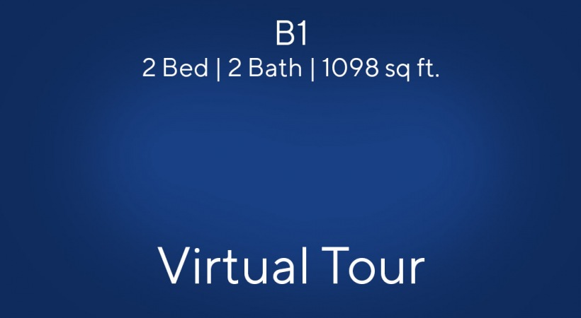 B1 Virtual Tour | 2 Bed/2 Bath