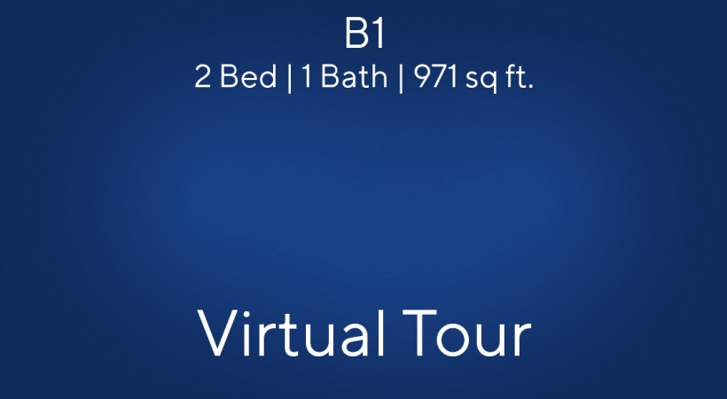 B1 Virtual Tour | 2 Bed/1 Bath