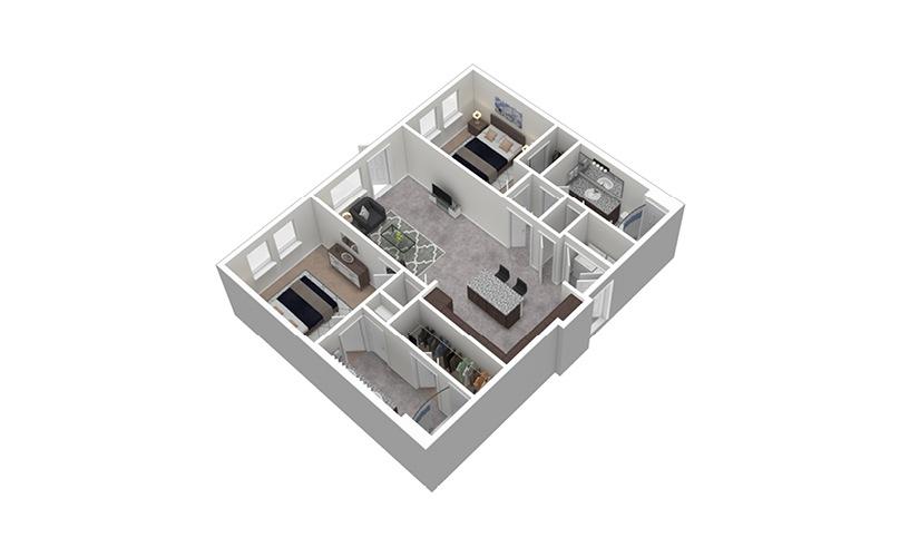 B1 1 Bed 1 Bath Floorplan