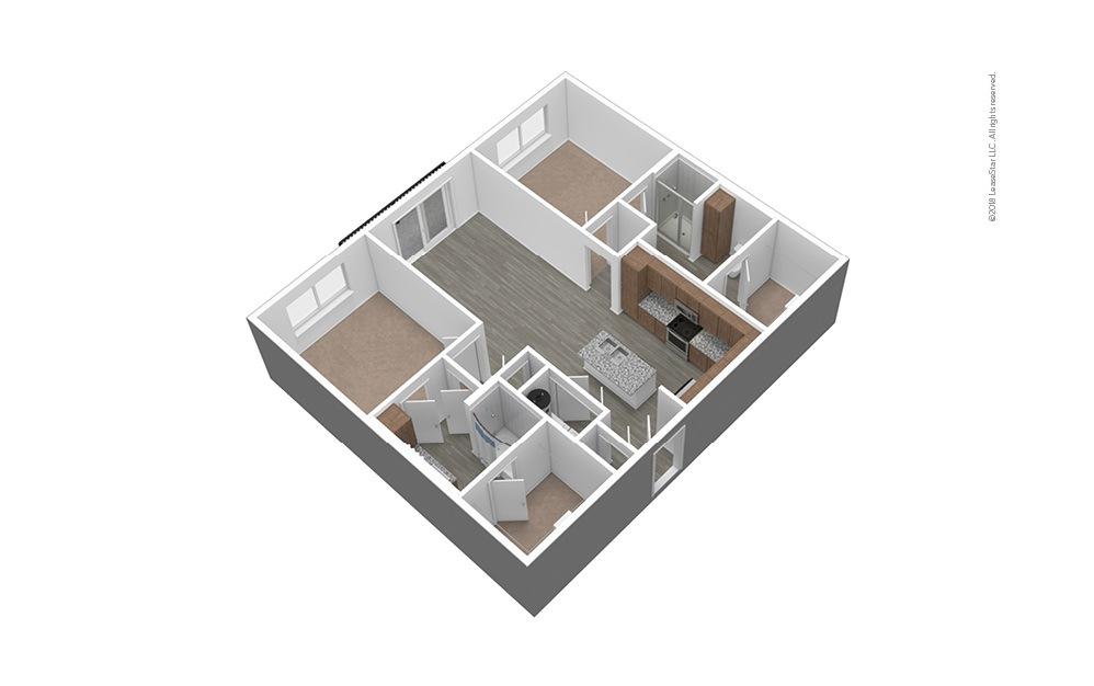 B1 Unfurnished 3D Floor Plan
