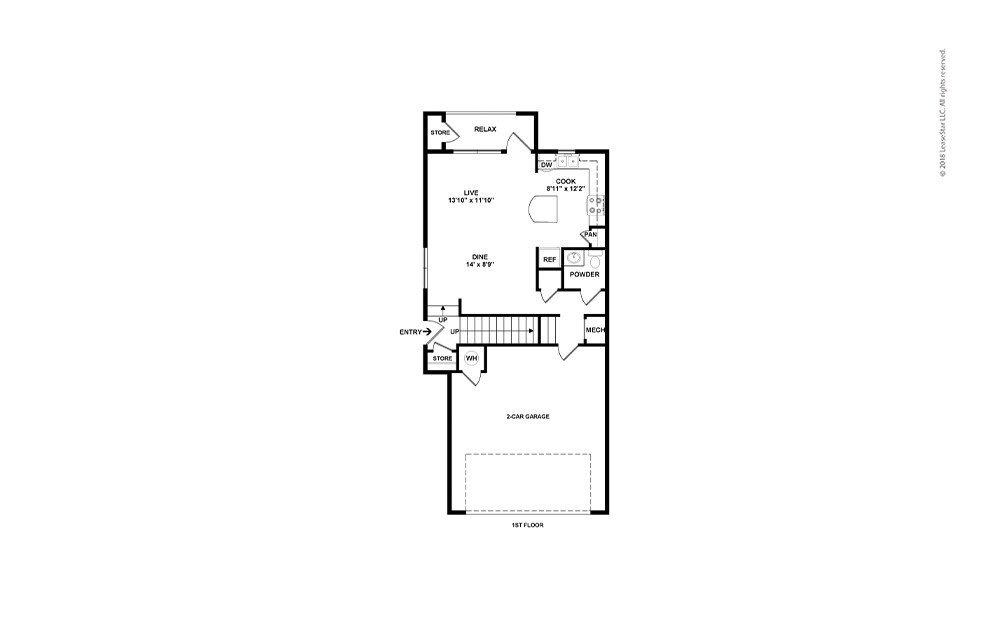 B2 2 bed 2 bath 1340 Sq. Ft.
