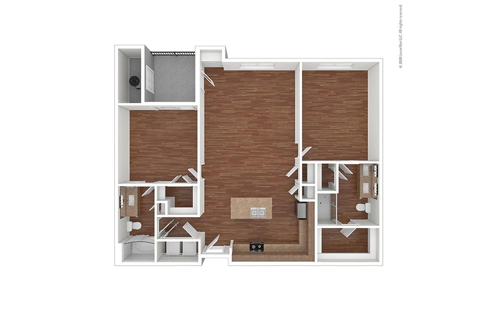B2 Floor Plan Vacant