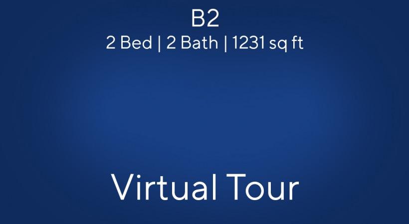 B2 Floor Plan, 2bed/2bath, 1231 sq ft