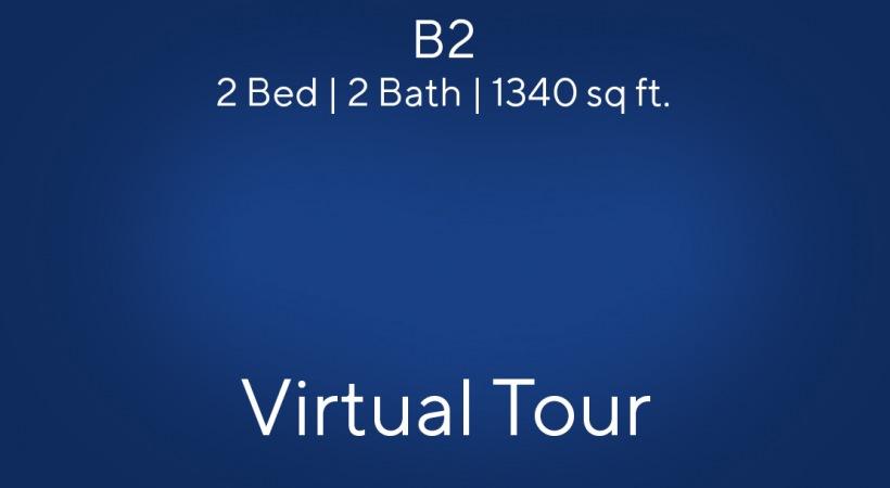 B2 Floor Plan, 2bed/2bath,1340 sq ft