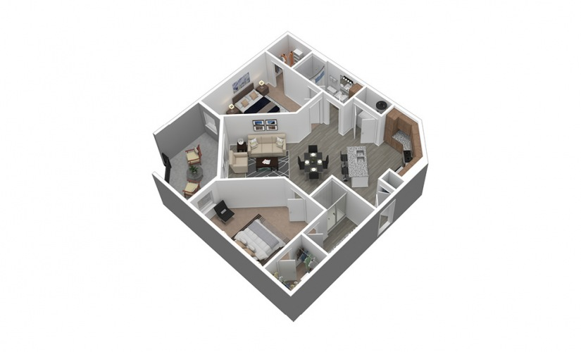 B2 Listing 3D Floor Plan