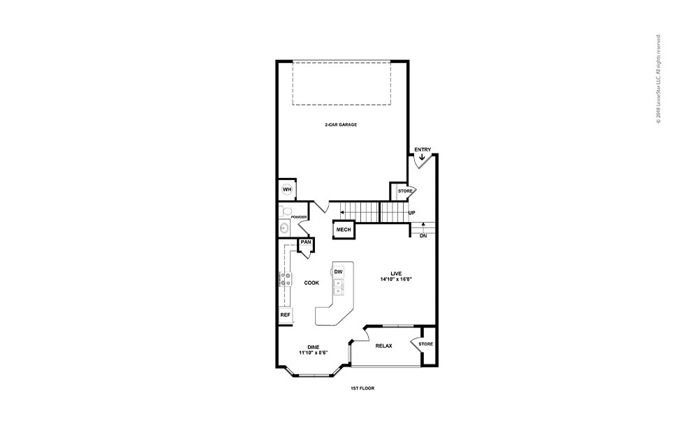 B3 2 bed 2 bath 1542 sq. ft.