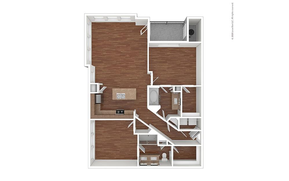 B3 Floor Plan Vacant