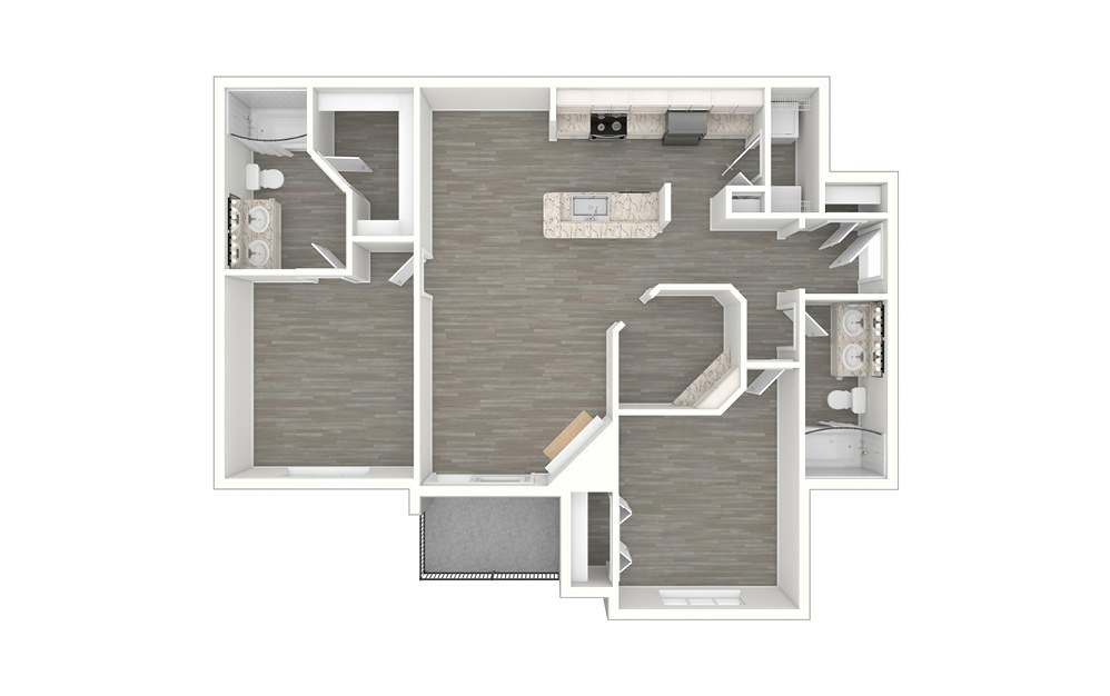 Sunset 2 bedroom 2 bath 1142 square feet (1)