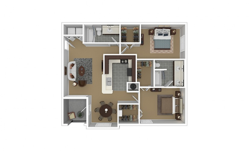 B3 Furnished Floorplan