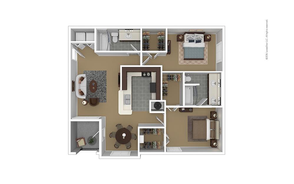B3 Furnished Floorplan