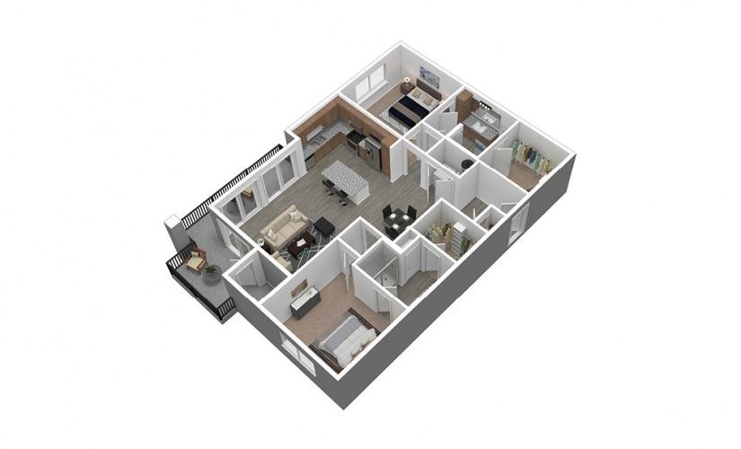 B3 Listing 3D Floor Plan