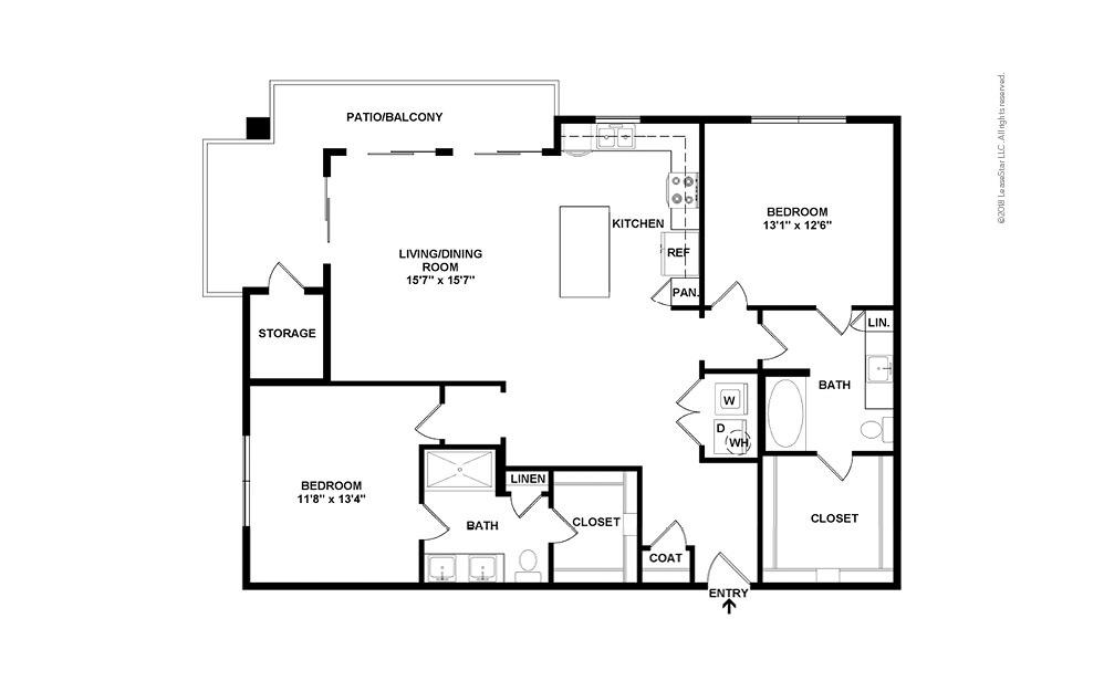 B3 2D Floor Plan