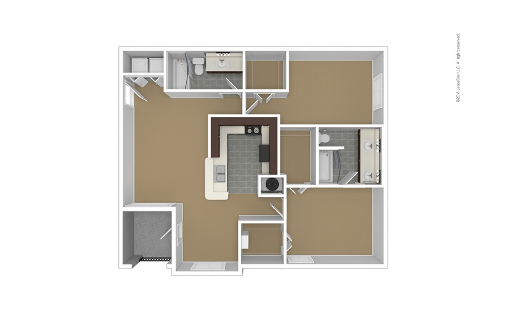 B3 Unfurnished Floorplan
