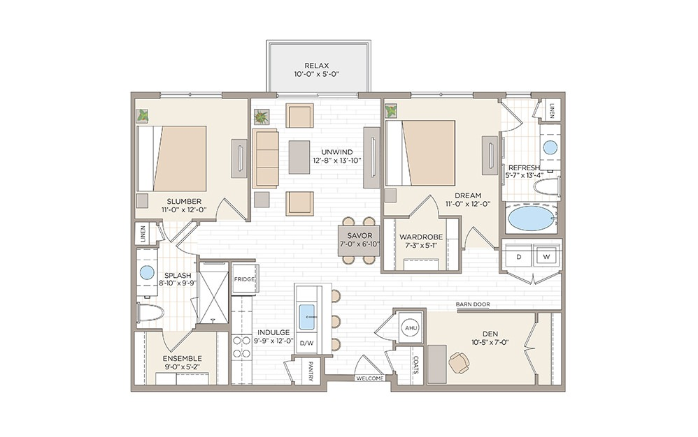 Osceola 2 bedroom 2 bath 1216 square feet