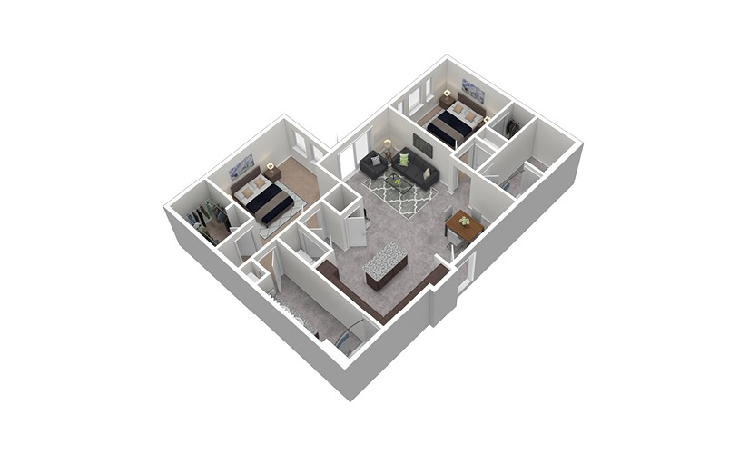 B7 2 Bed 2 Bath Floorplan