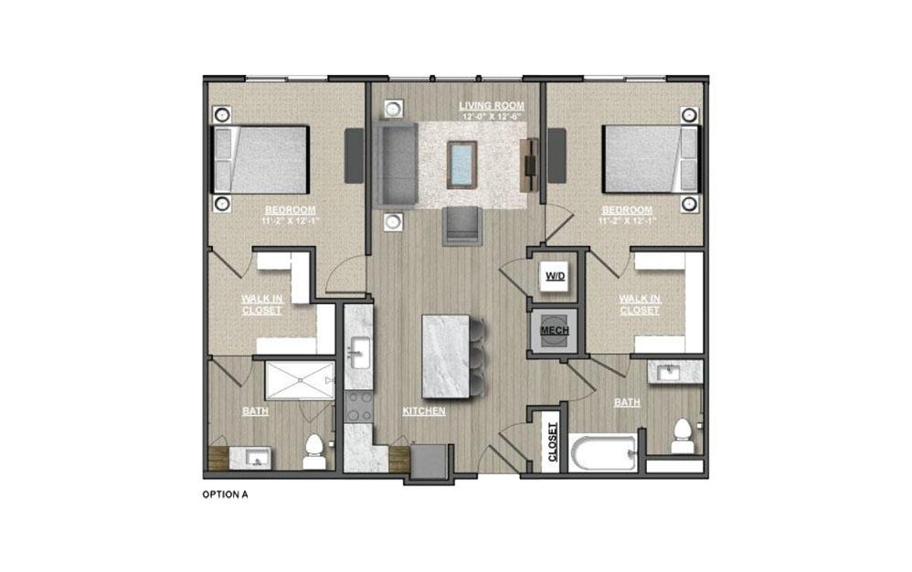 B8 - Meadowsweets 2 bedroom 2 bath 1082 square feet (1)