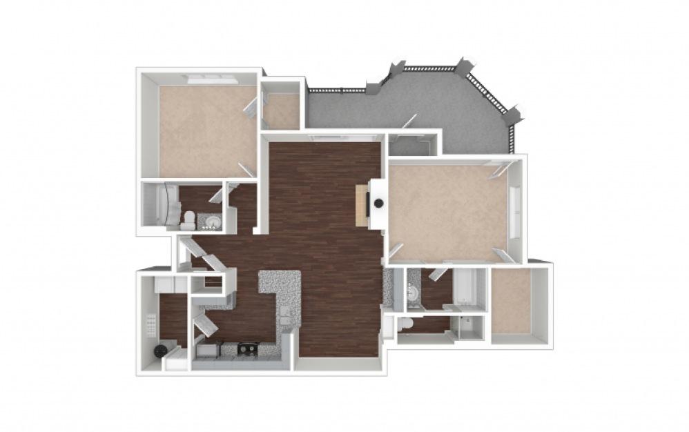 B8 2 bedroom 2 bath 1181 square feet (1)