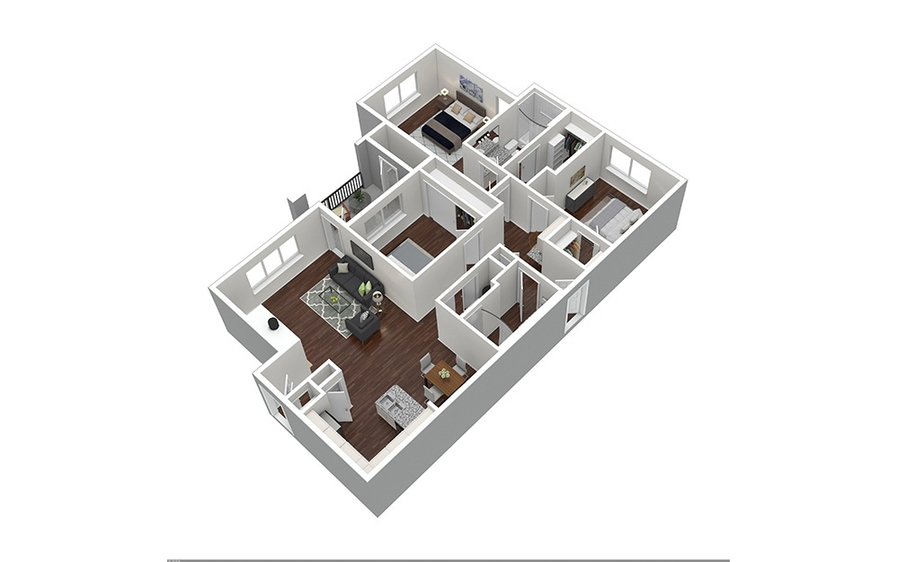 The Main Furnished Rendering | Bear Creek