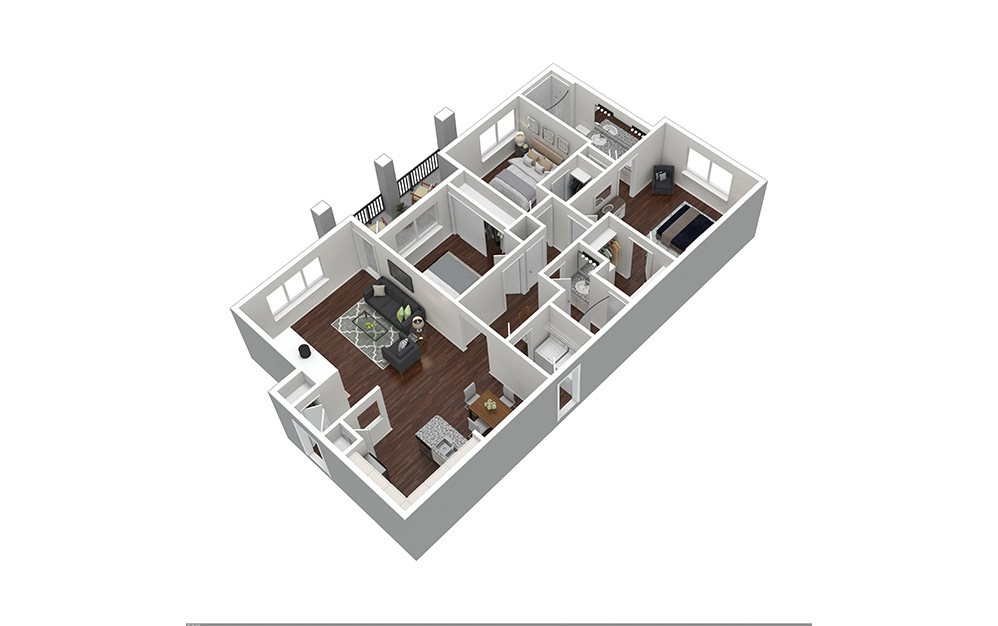 The MId-Cities Furnished Rendering | Bear Creek