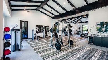 Weight section at Cortland Walnut Hill's fitness center