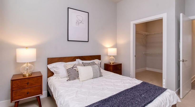 Spacious Bedroom With Walk-In Closet At Our Apartments In Brookhaven, GA