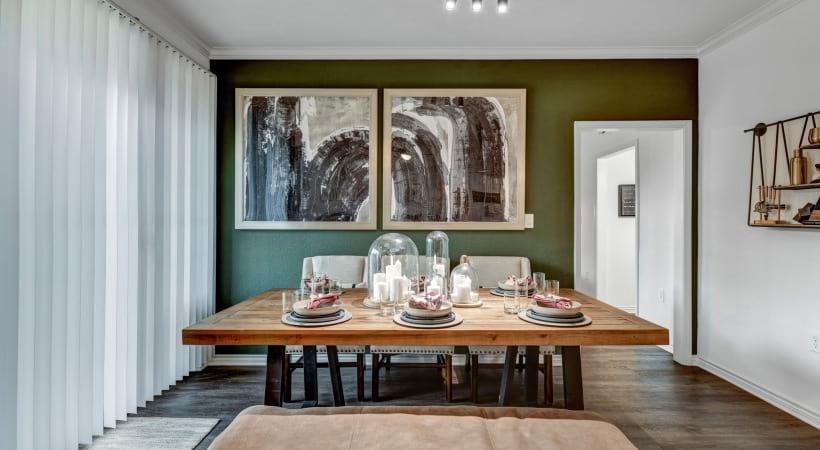 Modern Track Lighting in Dining Room