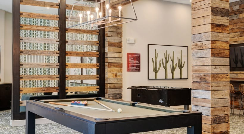 Resident Clubhouse with Pool Table