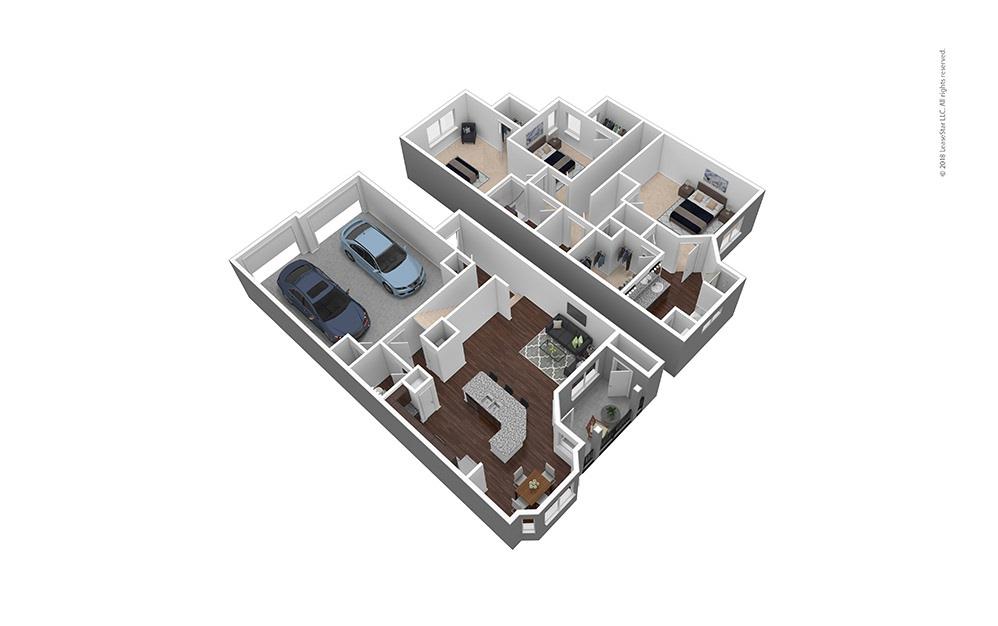 C1 3 bed 2 bath 1816 sq. ft.