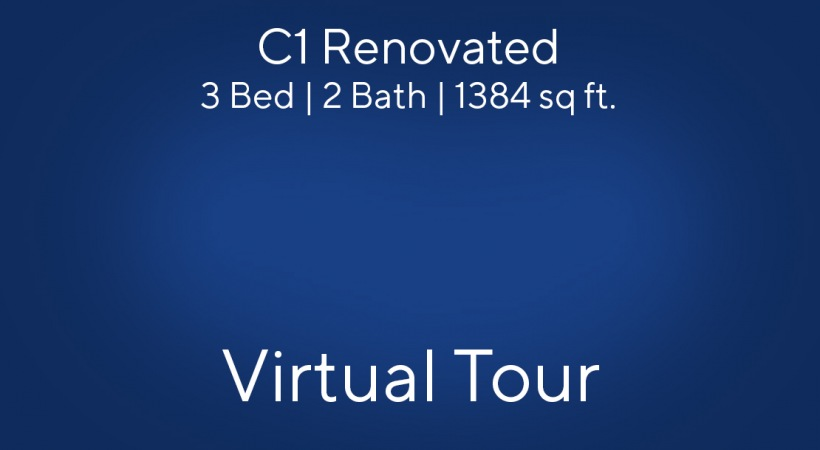 C1 Renovated Virtual Tour | 3 Bed/2 Bath