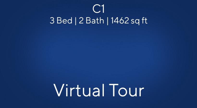 C1 Floor Plan, 3bed/2bath, 1462 sq ft