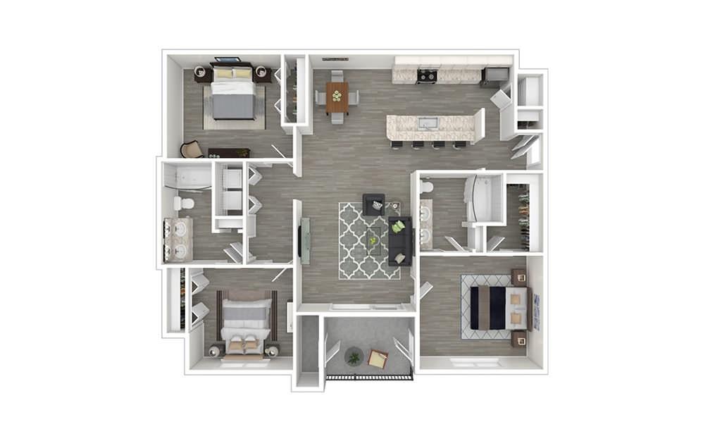 Westridge 3 bedroom 2 bath 1299 square feet