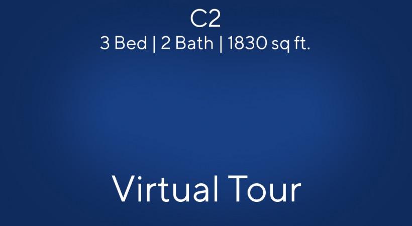 C2 Floor Plan, 3bed/2bath, 1830 sq ft