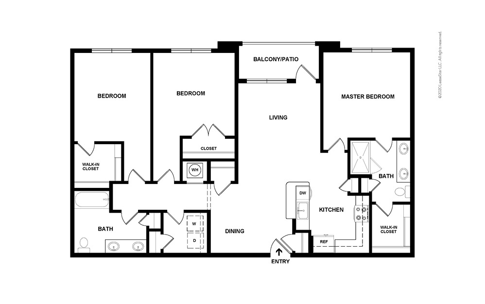 Willow 3 bedroom 2 bath 1509 square feet (2)