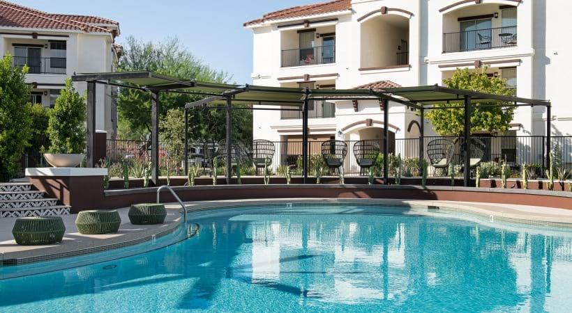 Luxury apartment pool at Cortland Mountain Vista
