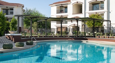 Luxury apartment pool at Cortland Mountain Vista
