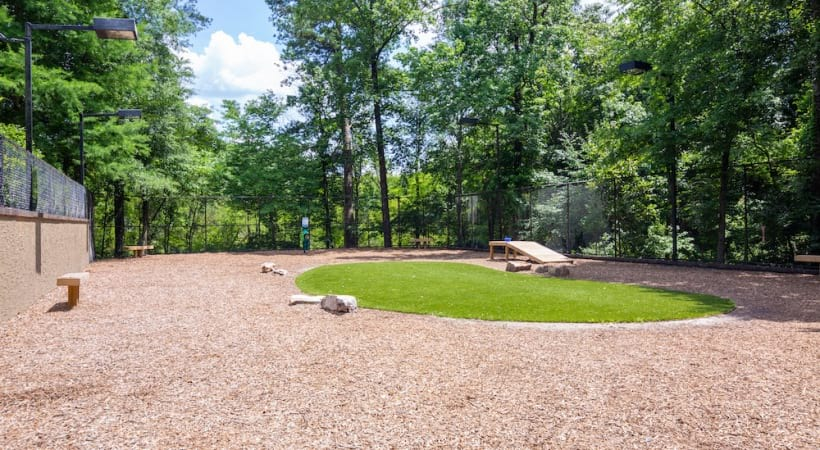 Leash-free dog park at our pet-friendly Chamblee apartments