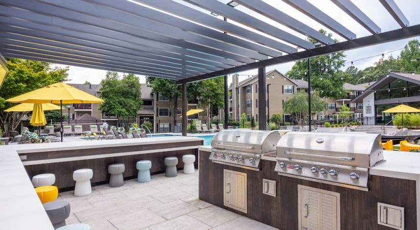 Outdoor grills at our apartments near Chamblee